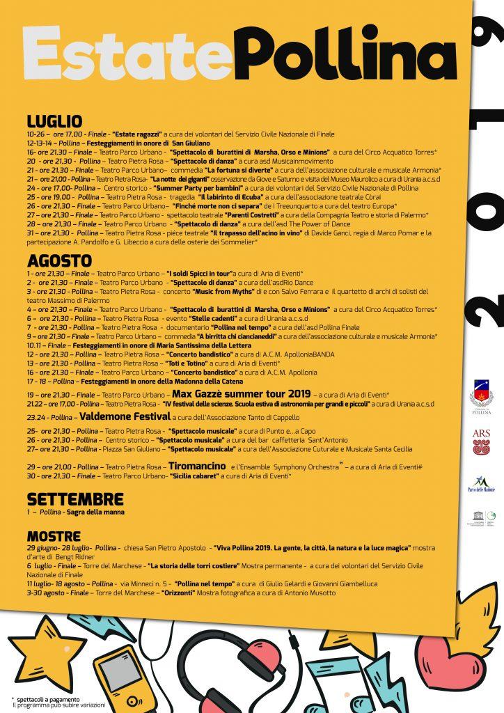 Estate Pollina 2019 eventi manifestazione e concerti